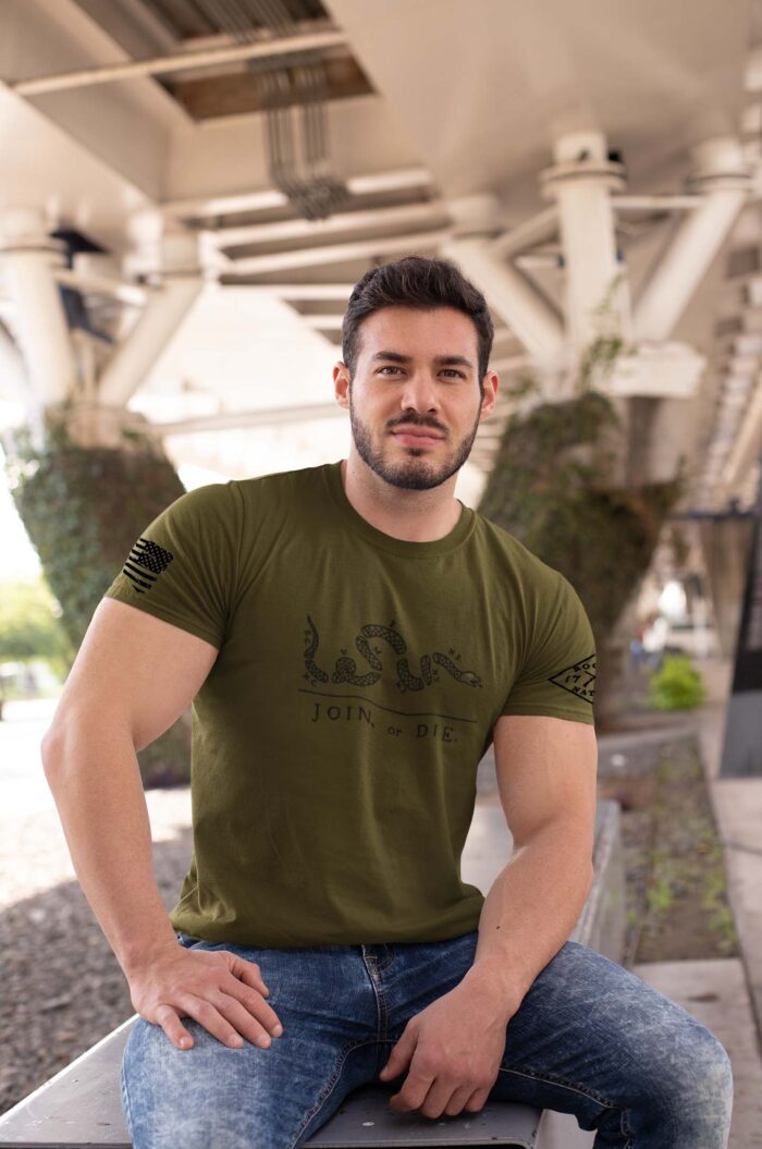 t-shirt join or die army men's