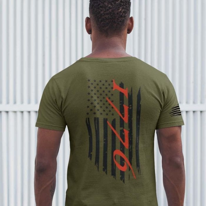 t-shirt flag 1776 on army men's
