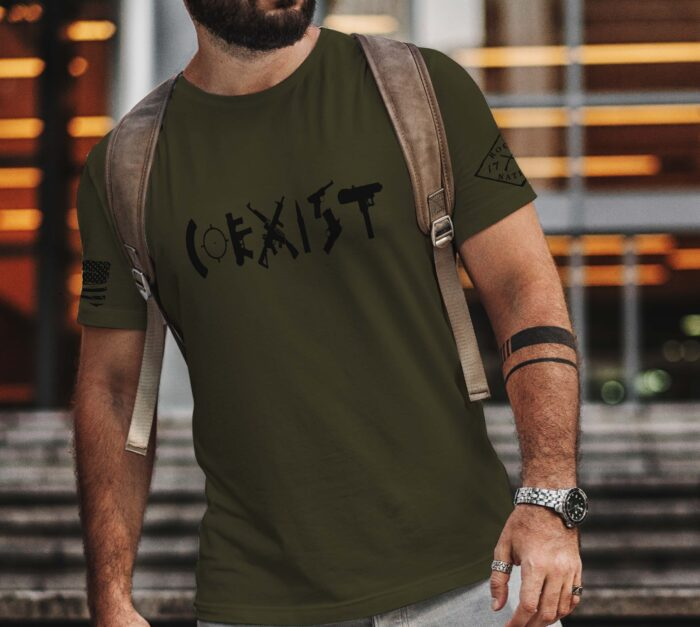 t-shirt coexist on army mens