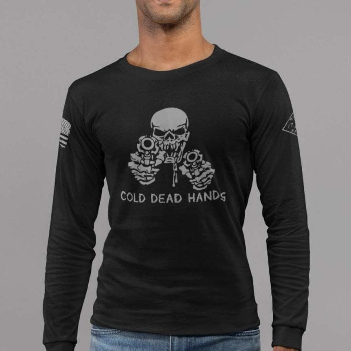 t-shirt cold dead hands long sleeve black mens
