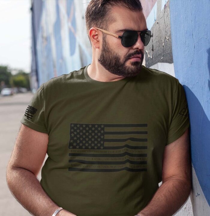 t-shirt isaiah 6:8 on army men's