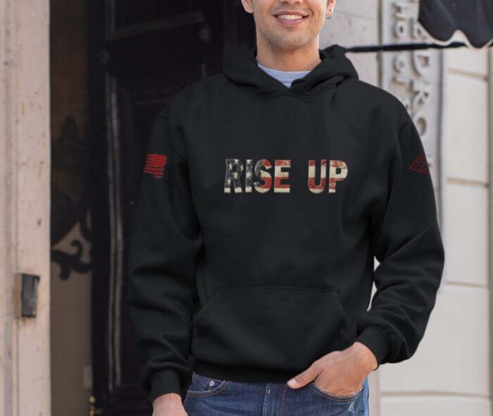 hoodie rise up black mens