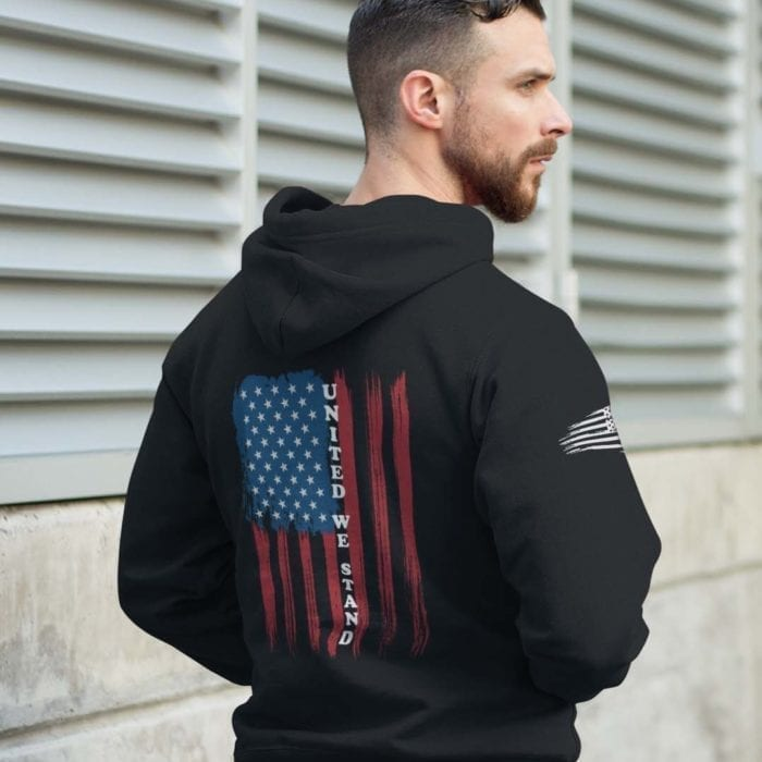 united we stand hoodie black