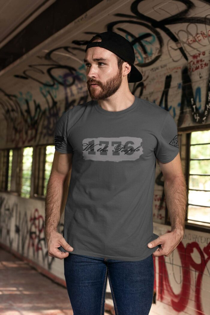 t-shirt we the people on charcoal men's