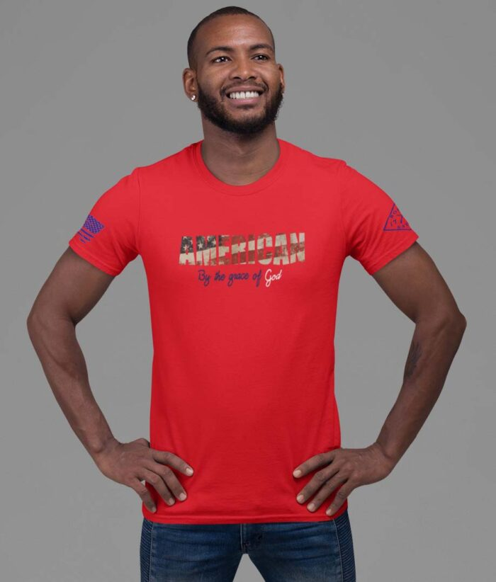 By The Grace Of God Mens Red T-Shirt