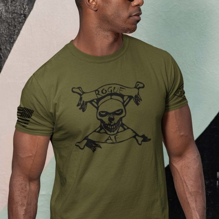 Rogue AF on Mens Army T-Shirt