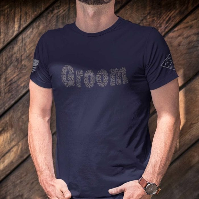 Groom in men's navy blue