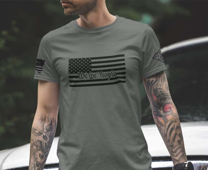 March Club t-shirt with We The People inside the American Flag Men's t-shirt