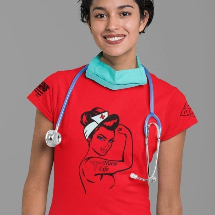 nurse life on women's red