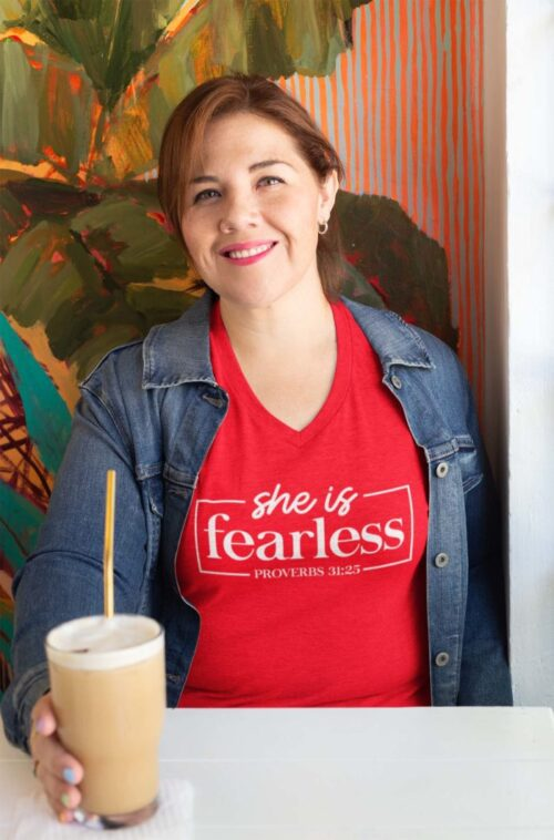 She Is Fearless on Women's Red