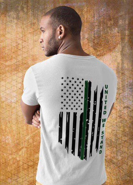 United we stand military on Men's white T-Shirt