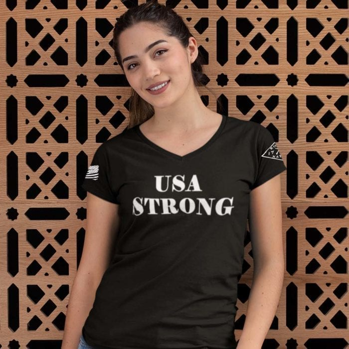 USA Strong on Women' black t-shirt