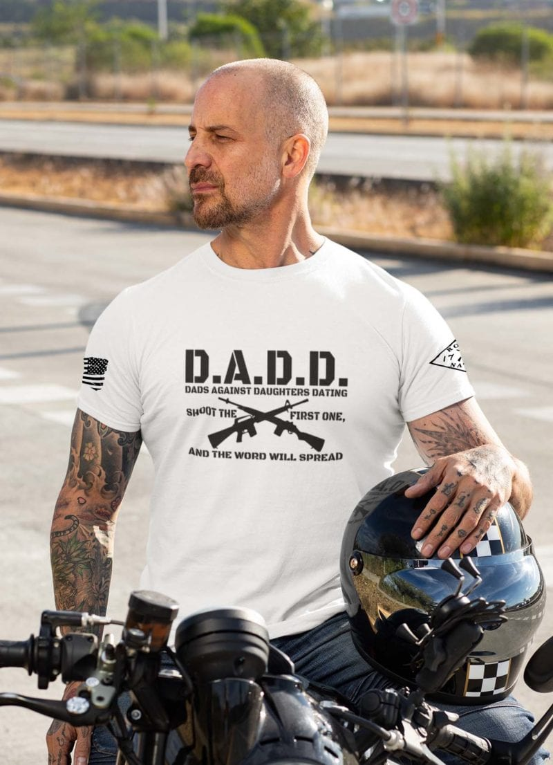 D.A.D.D. Dads Against Daughters Dating on Mens White Tee