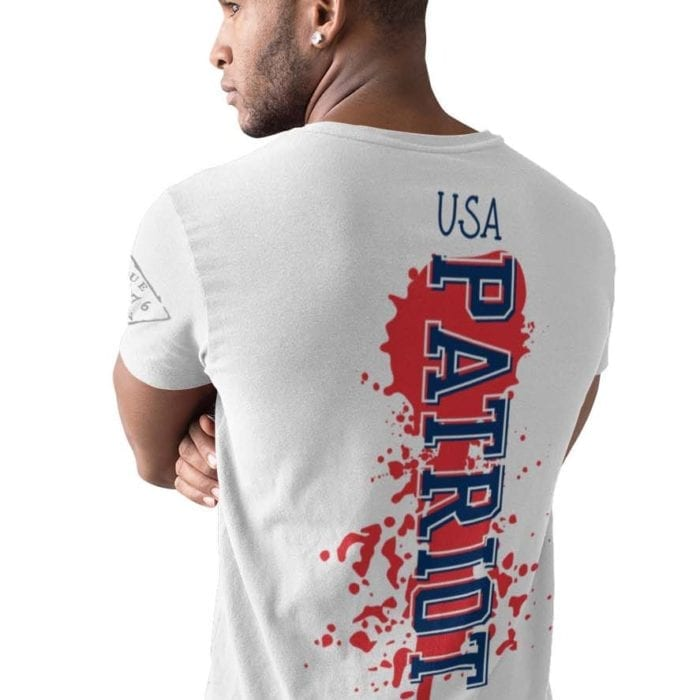 Patriot on Mens white t-shirt
