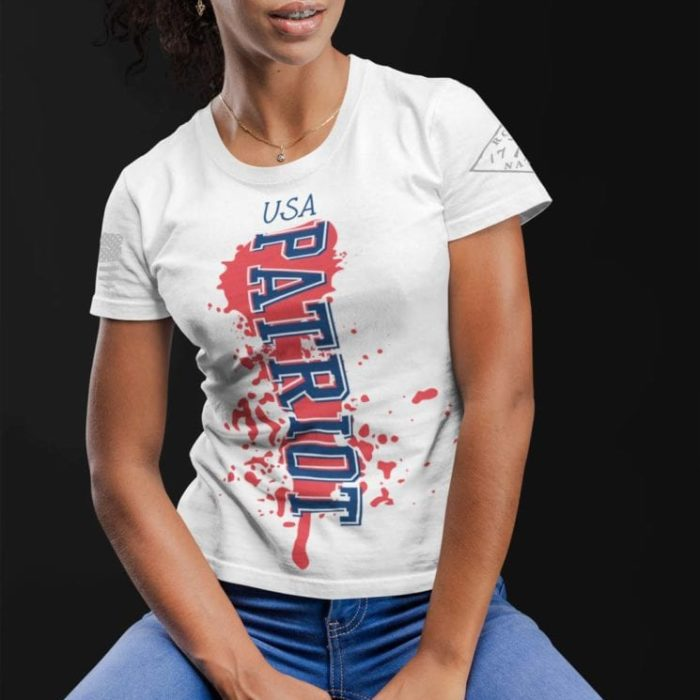 Patriot shirt on womens white T-shirt