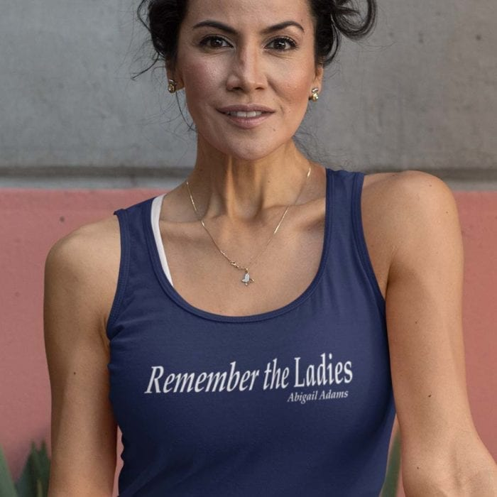Remember the ladie in womens navy blue tank
