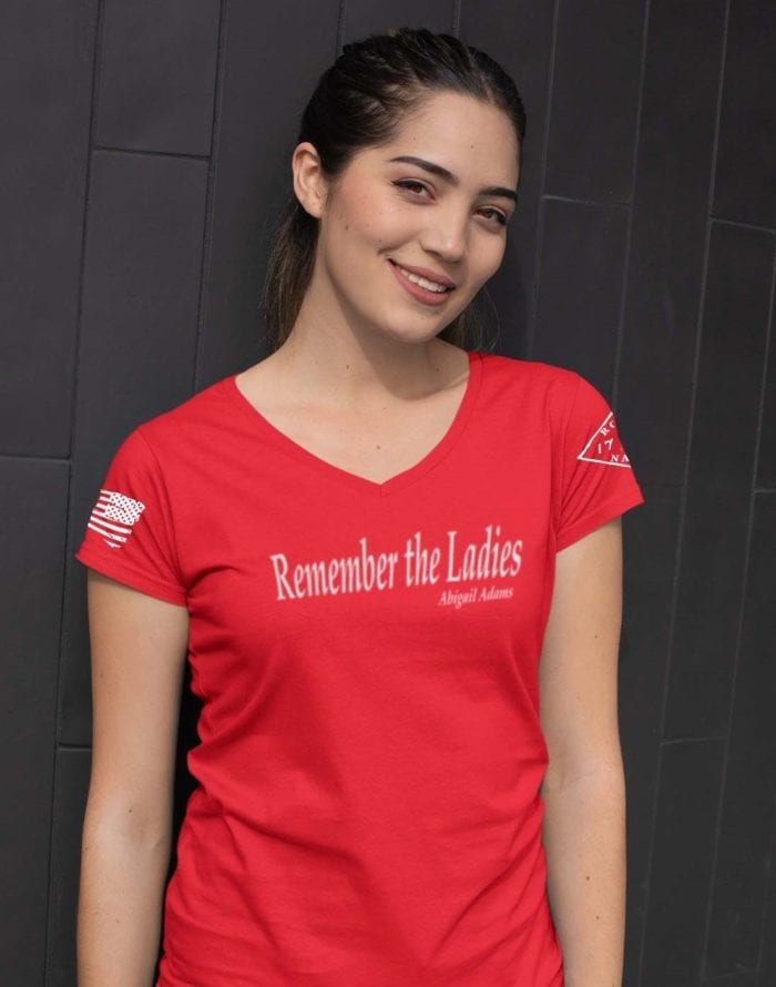 Remmber the ladies in womens red v-neck