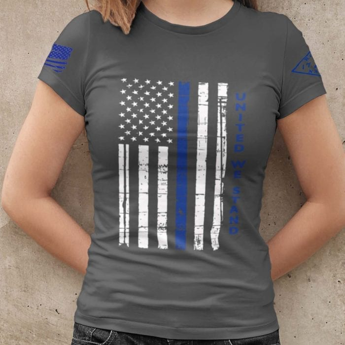United We Stand Police Womens T-shirt
