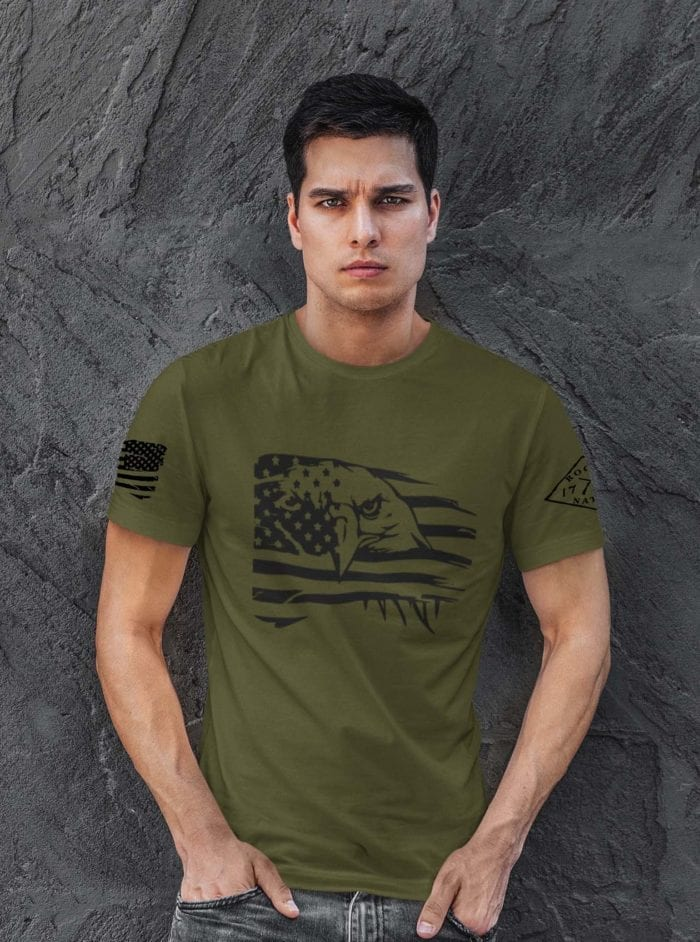 Eagle Pride on Men's Army T-Shirt