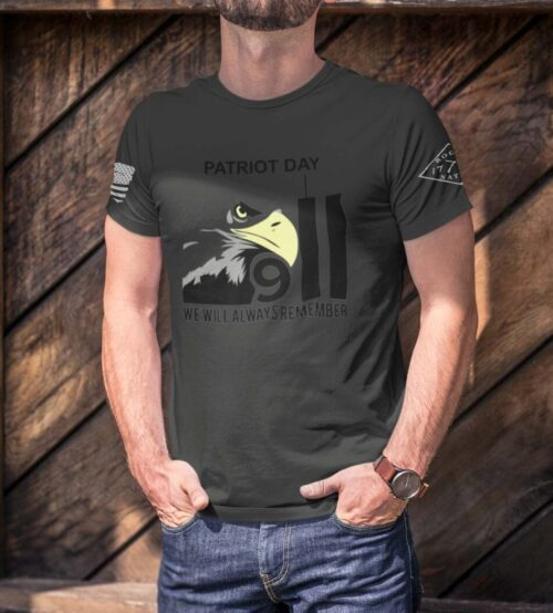 Patriot Day 2020 on Men's Charcoal T-Shirt