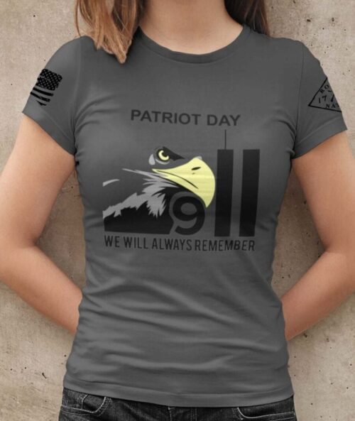 Patriot Day 2020 on Women's Charcoal T-Shirt