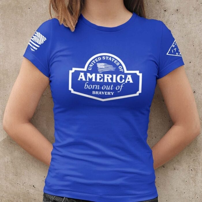 September Club shirt on Women's Blue T-Shirt