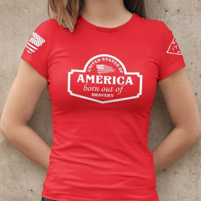 September Club Shirt on Women's Red T-Shirt