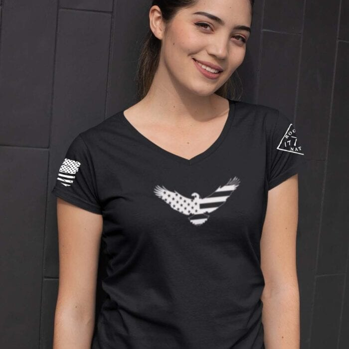 American Eagle on Women's Black V-Neck