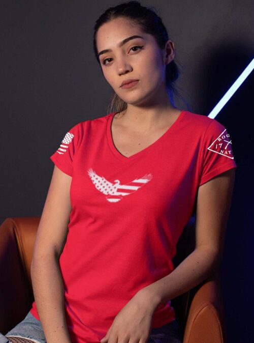 American Eagle on Women's Red V-Neck