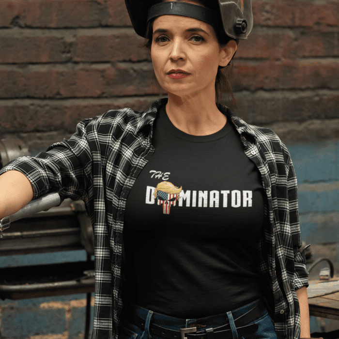 The Dominator in a Black Women's T Shirt