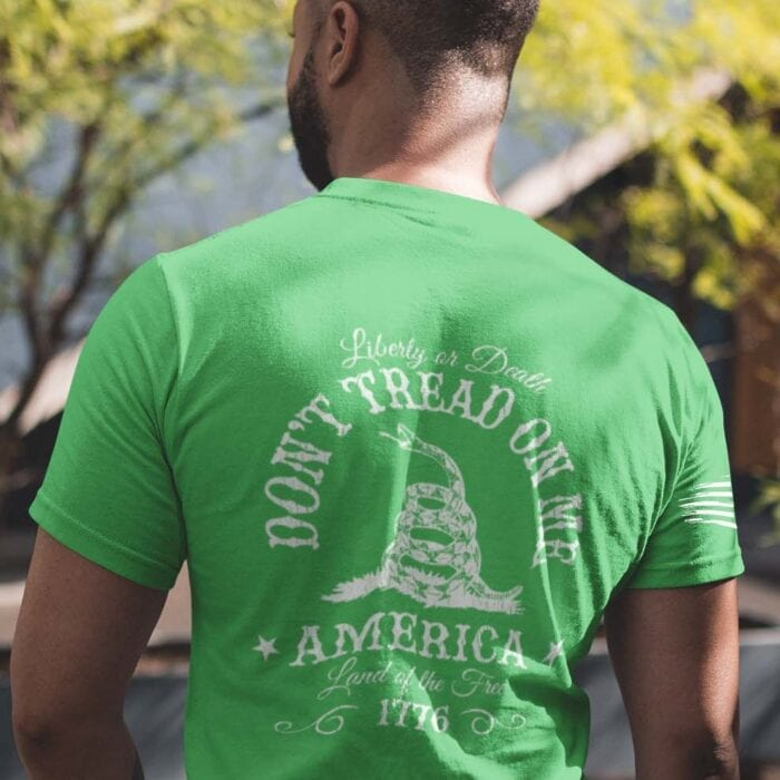 Don't Tread on Me on Men's Green T-Shirt