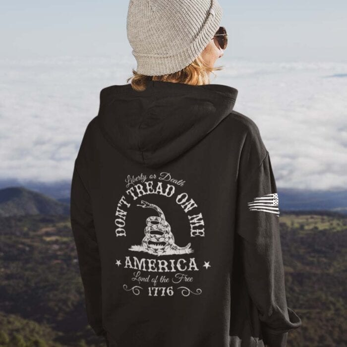 Don't Tread On Me on Black Hoodie Women's