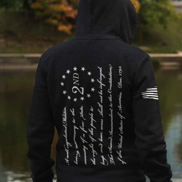 2nd Amendment on Men's Black Hoodie