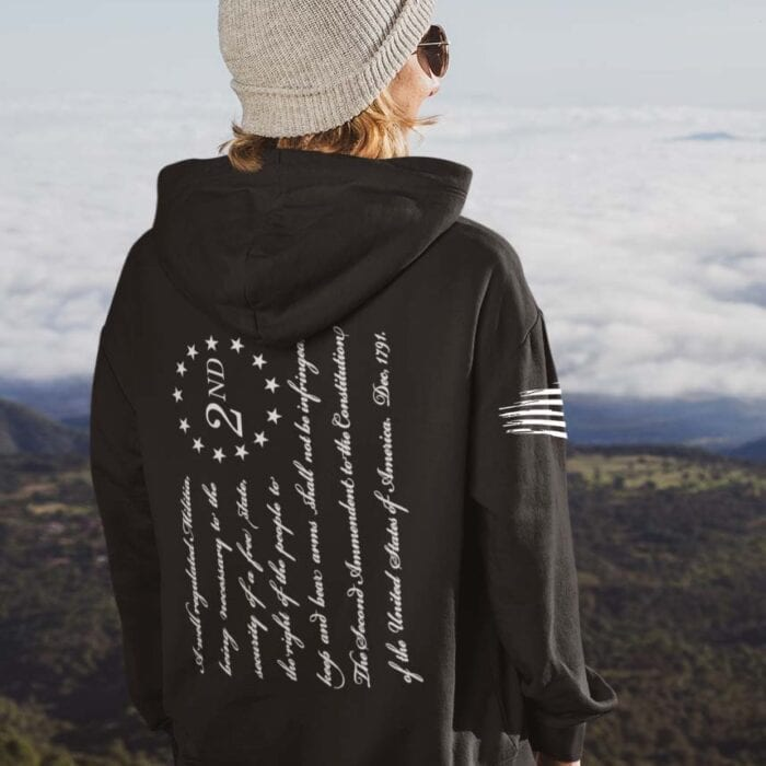 2nd Amendment on Women's Black Hoodie