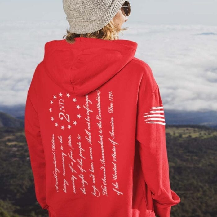 2nd Amendment on Women's Red Hoodie