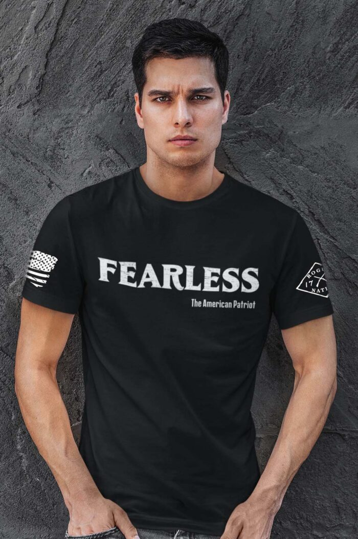 Fearless Patriot on a Men's Black T-Shirt