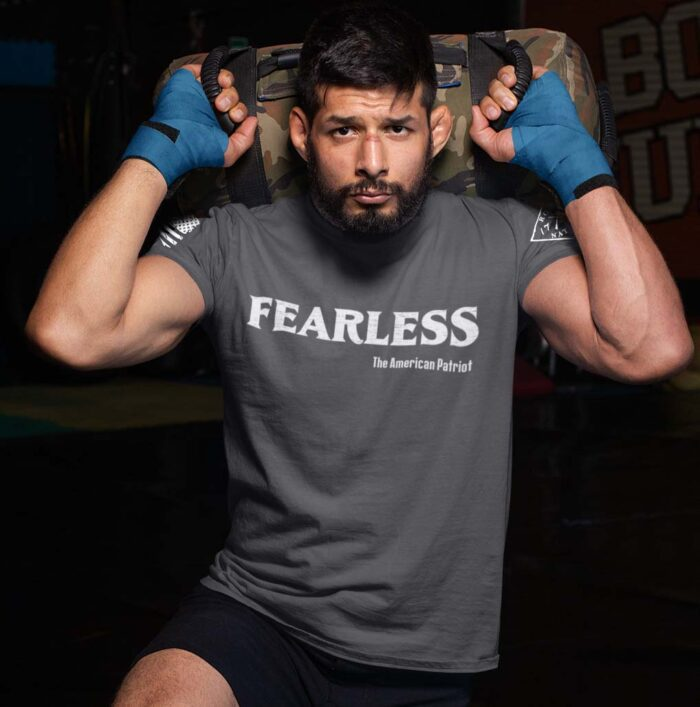 Fearless Patriot on a Men's Charcoal T-Shirt