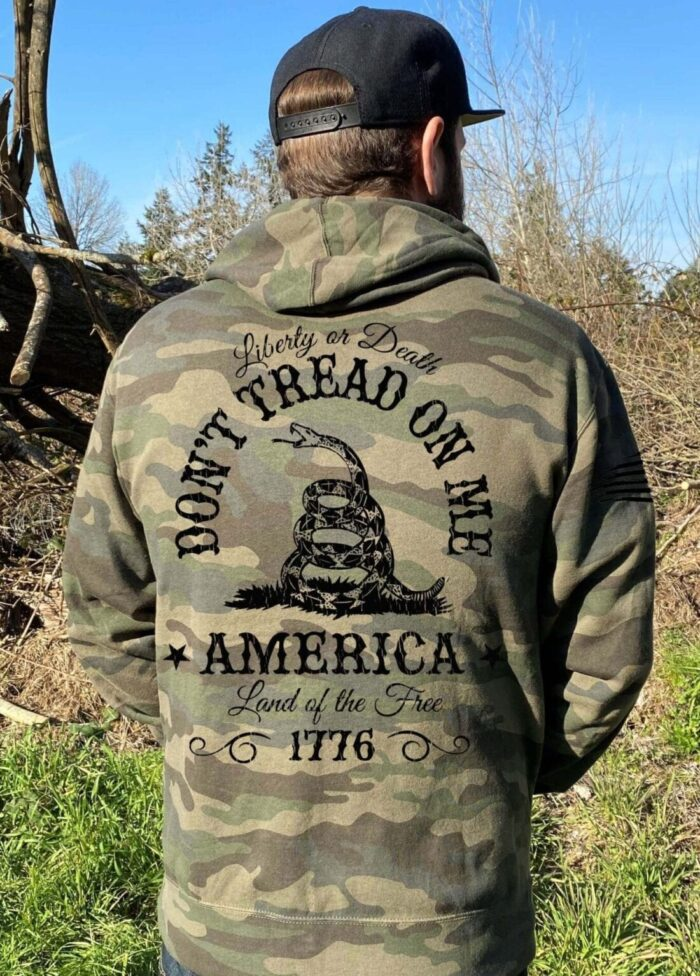 Dont Tread on Me on Mens Camo Hoodie