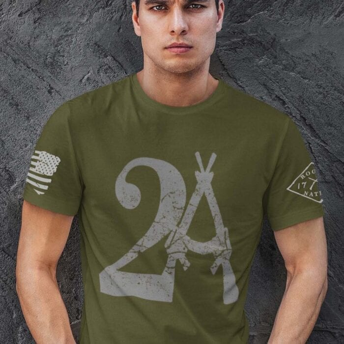 2A on Mens Army T-Shirt