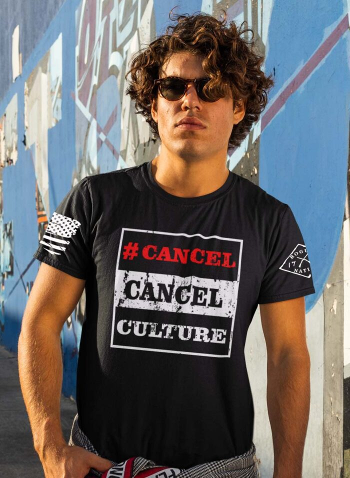 #Cancel Cancel Culture T-Shirt on Men's Black T-Shirt