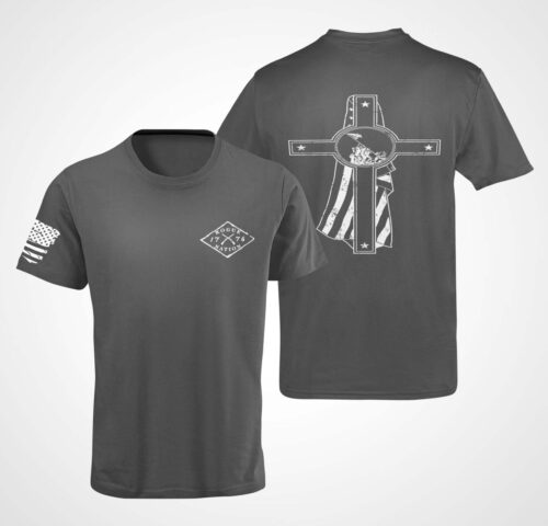 Memorial Day T-Shirt on a Mens Charcoal
