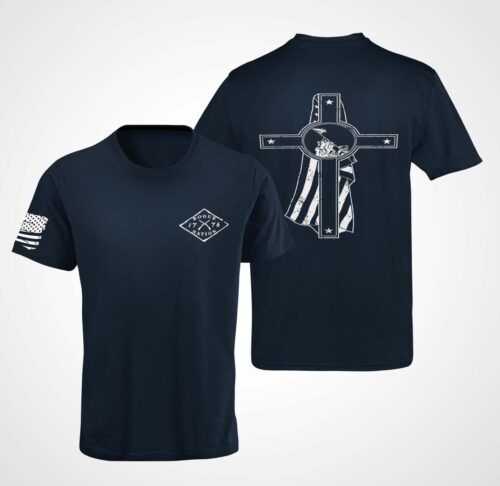 Memorial Day T-Shirt On a Mens Navy
