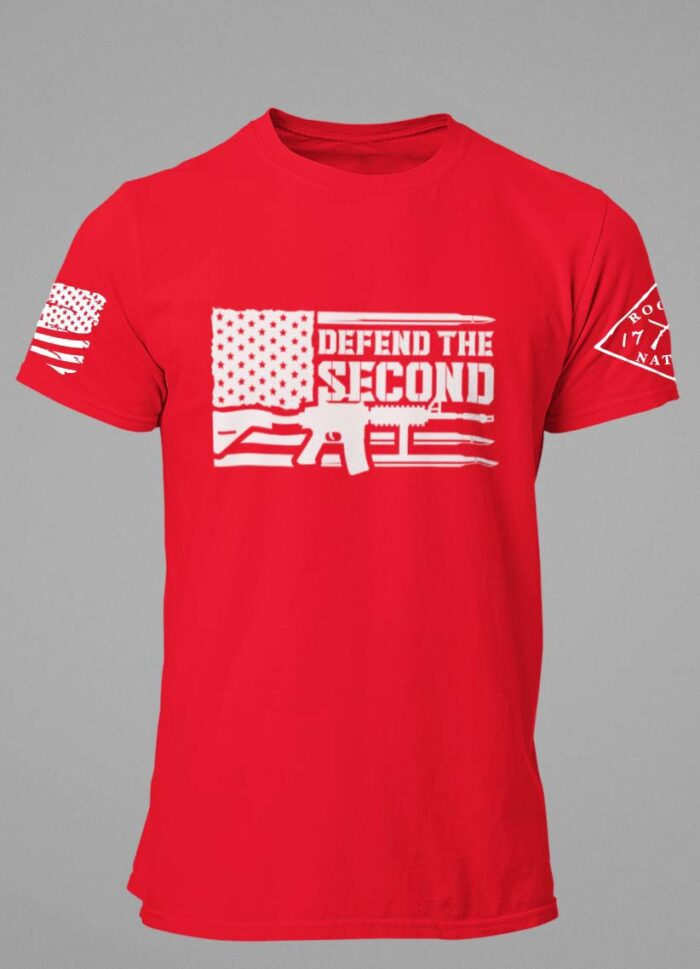 Defend the 2nd on a Mens Red T-shirt