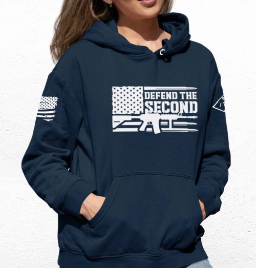 Defend the Second Hoodie in Navy