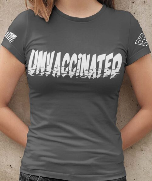 Unvaccinated T-Shirt Women's in Charcoal