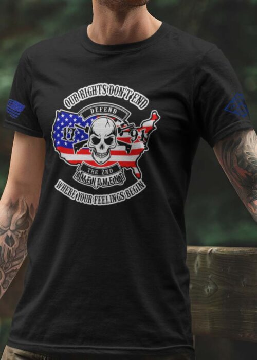 Our Rights Don't End T-Shirt in Black