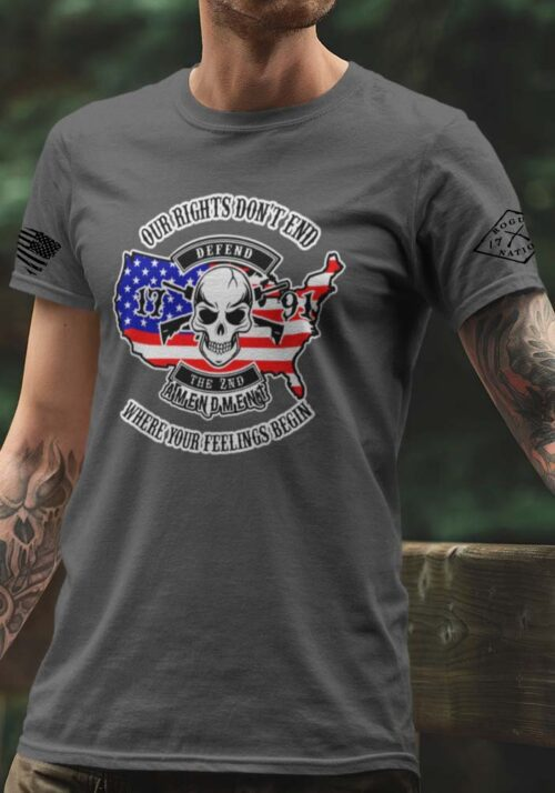 Our Rights Don't End T-Shirt in Charcoal