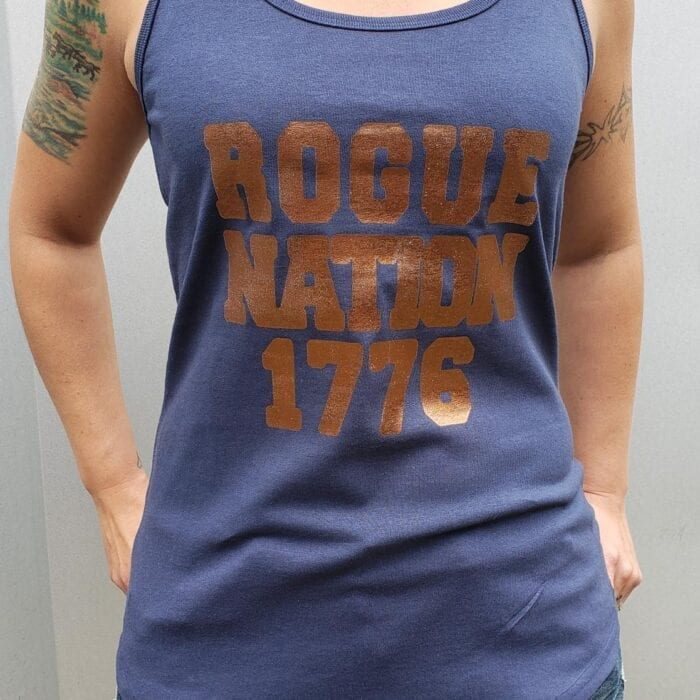 Rogue Nation 1776 Foil on Womens Tank