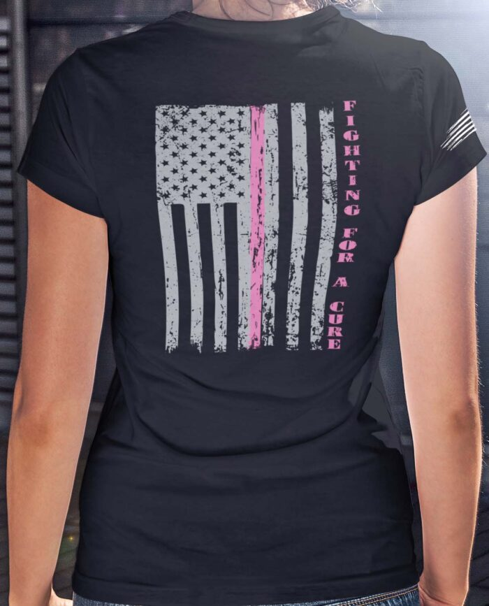 Fighting for a cure on a Black V-Neck T-Shirt