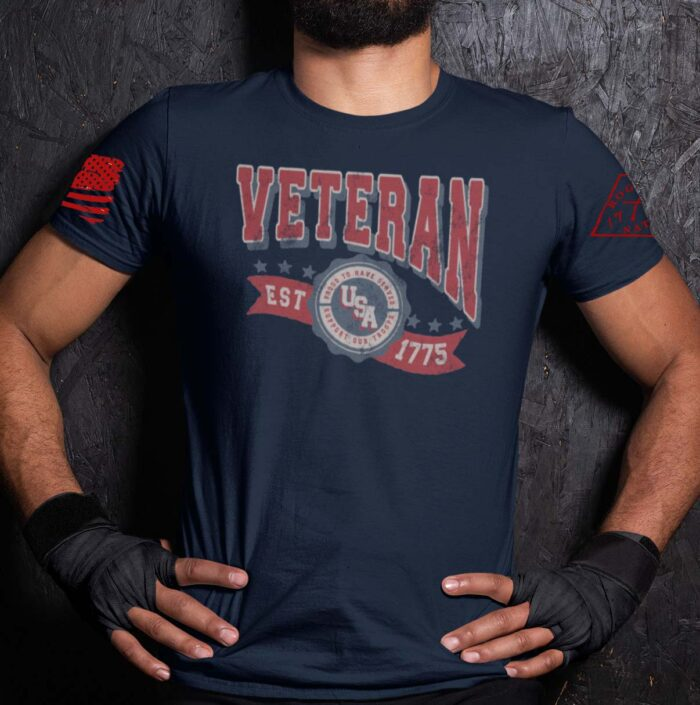 Veteran in the USA on a Navy T-Shirt Men's